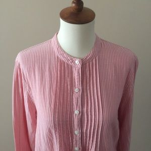 Pink-and-White-Striped-LL-Bean-Blouse